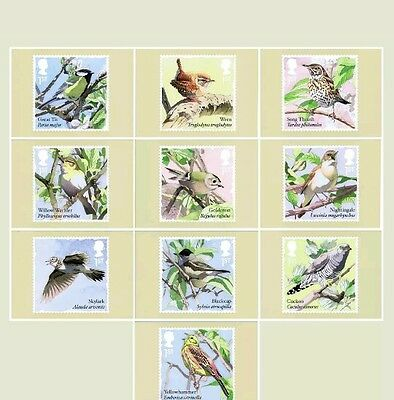 2017 Songbirds PHQ 428 - Mint Cards (Set of 10 Royal Mail Postcards)