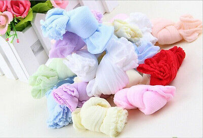NEW 10 Pair Lovely Newborn Baby Girls Boys Soft Socks Mixed Color FG