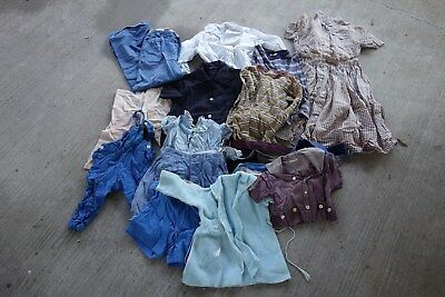 Lot of Vintage Kids Clothing shirts, overalls, dress, jeans 1930's 40's 50's 60s