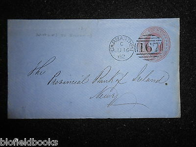 Victorian 1862 Franked Letter from Carmarthen to Newry - 1d - Postal History