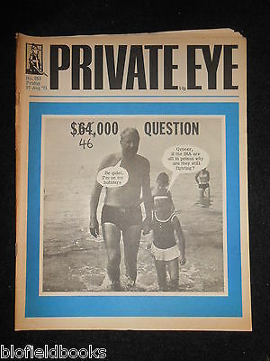 PRIVATE EYE - Vintage Satirical Political Humour Magazine - 27th August 1971