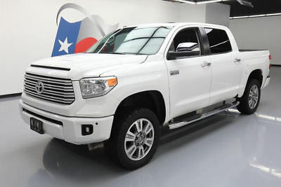 2016 Toyota Tundra Platinum Extended Crew Cab Pickup 4-Door 2016 TOYOTA TUNDRA PLATINUM CREWMAX 4X4 SUNROOF NAV 31K #513439 Texas Direct