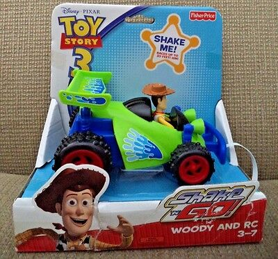 Toy Story 3 Shake N Go Woody And Rc *new*