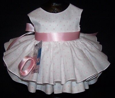 "Pink Dots Dress for 22"" Saucy Walker or Smilar Dolls ""Party"" Series"