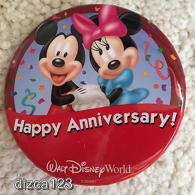 Disney Button WDW Disney World Happy Anniversary Button