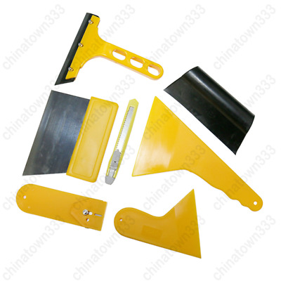 Car Tint Cleaning Wrap Window Tool Kit For Auto Scraper Film Vinyl Squeegee 7pcs