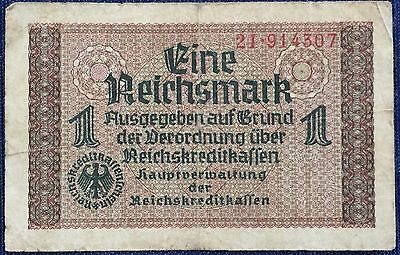 Germany, WWII Occupied Territories 1 Reichsmark (1940) VF or better!