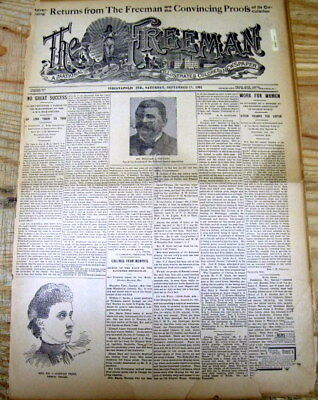 <1901 African American newspaper NEGRO trys to stop President McKinley Assassin