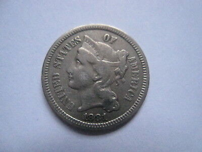 1881 3 Cent Nickel - Free Shipping !!  #507
