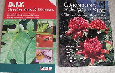 THE NEW AUSTRALIAN BUSH GARDENING ON THE WILD SIDE + GARDEN PESTS & DISEASES x 2
