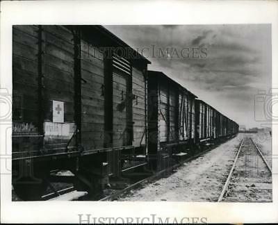 1941 Press Photo Annemasse France Red Cross supply train for POWs in Germany