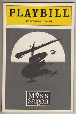 """Miss Saigon""  OBC  Playbill 1991  PREVIEW   Lea Salonga, Jonathan Pryce"