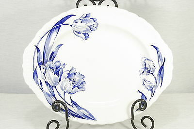 "Vintage Grindley The Tulip Blue 14 3/4"" by 12"" Platter near Mint!"