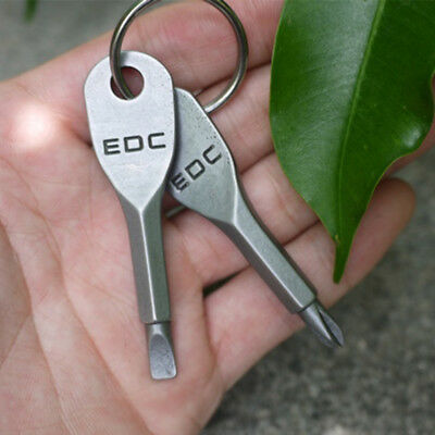 EDC  Mini Pocket Tool Outdoor Screwdriver Keychain Key Rings Stainless Steel