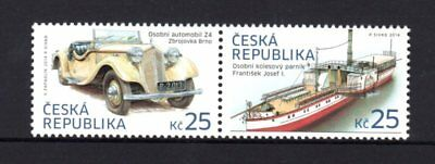Czech Republic 2014 Car & Paddle Steamer Pair MNH