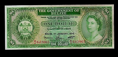BELIZE  1 DOLLAR 1976   A4  PICK # 33c  VF-XF  BANKNOTE.