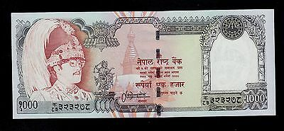 Nepal  1000 Rupees ( 2000 ) Sing. 13   Pick # 44  Unc.