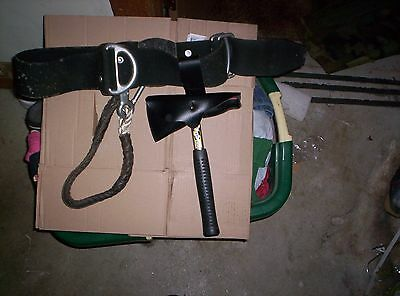 German Non- Leather Fire Belt with Ax attached