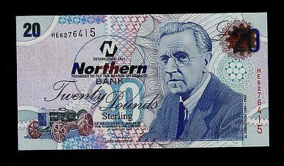 NORTHERN IRELAND 20 POUNDS  2005 NORTHERN BANK PICK # 207a UNC BANKNOTE.