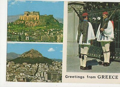 Athens Greetings From Greece Postcard 067a