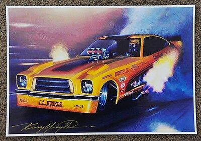 New Kenny Youngblood Signed La Hooker Dave Condit Ocir Funny Car Dragster Print
