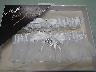 Wedding Ivory/Bridial White Garter Set Boxed