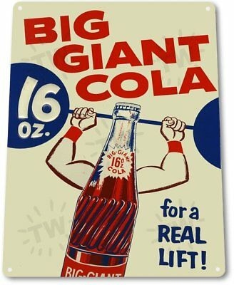 Big Giant Cola Vintage Retro Tin Metal Sign