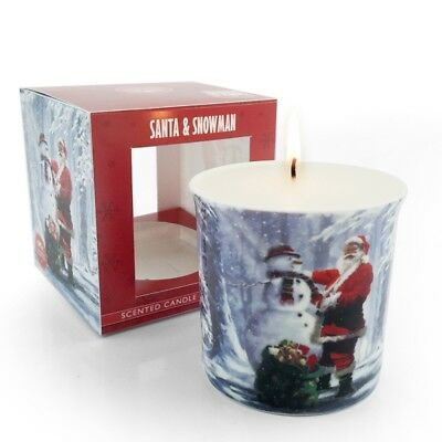 Christmas Snowman & Santa Scented Candle By Leonardo Collection