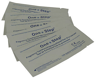 One Step® Pregnancy Test Strips - ULTRA EARLY 10mIU HCG Urine Testing Kits