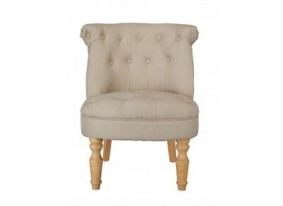 Charlotte French Style Occasional Chair In Linen Style Beige
