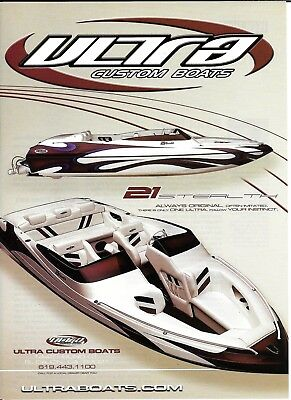 2004 Ultra Boats Color Ad- Nice Photo of Stealth 21
