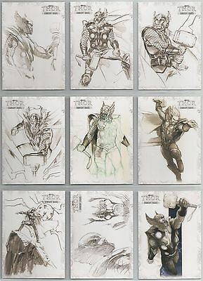 """Thor The Movie - """"Concept Series"""" Set of 13 Chase Cards #C1-13"""
