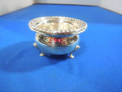 Antique Sterling Silver Small Footed Dish