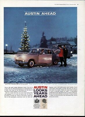 1960 Austin Motor Car Night Before Christmas Ad