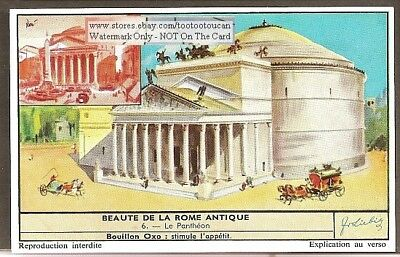 Pantheon Rome Italy Ruins 50 Y/O Trade Ad Card