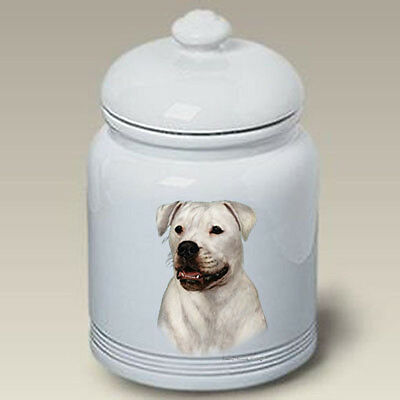Ceramic Treat Cookie Jar - American Bulldog (TB) 34300