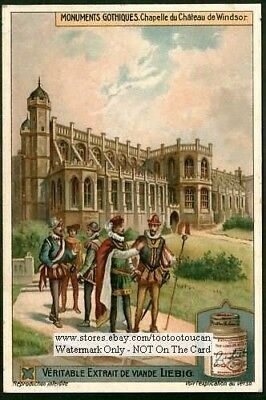 Windsor Castle Chapel England History King Royalty  c1915 Trade Ad Card