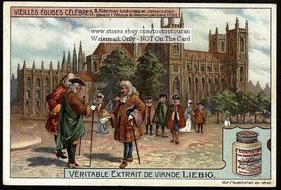 The Front Of The Westminster Abbey In 1750  1910 Trade Ad Card