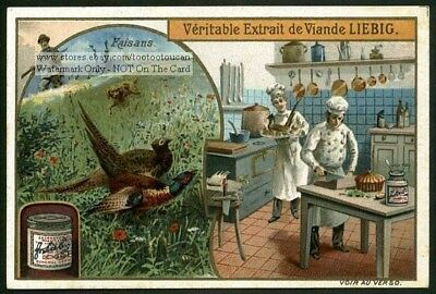 Faisan Pheasant Fowl And Cooks Cooking Food 1905 Trade Ad Card