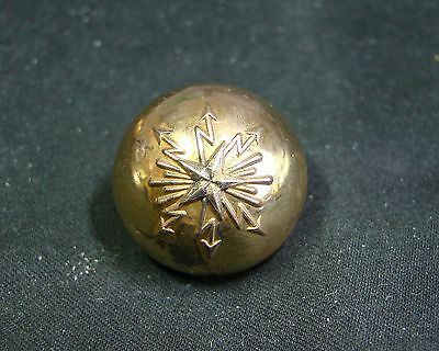 1876-1914 French 3Rd Republic Telegraphers Officer Half Dome Gilt Vest Button