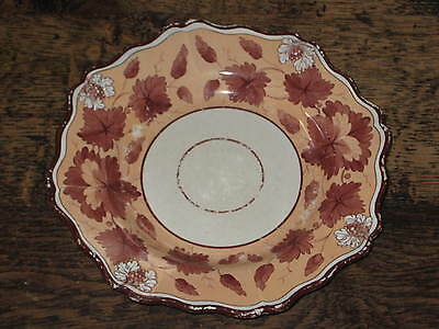 Regency English Pearlware Plate / Shallow Bowl Grapevine Decoration