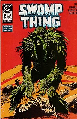 Swamp Thing #63 Alan Moore Story NM- 9.2 1987 DC See My Store