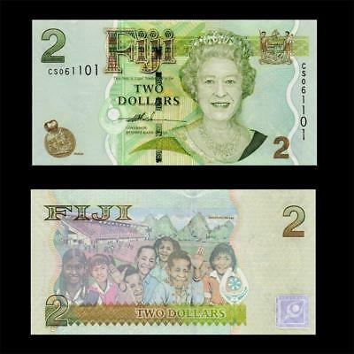 2007 British Colony Fiji (Qe Ii), $2 -» Best Note «