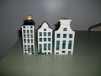 KLM Bols Delft Houses -  Numbers 57, 62, 63 - Sealed With Contents.