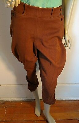 riding pants jodhpur breeches brown vintage womens rockabilly