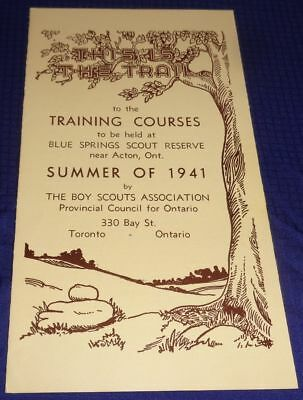 BR1770 Vtg 1941 Canadian Boy Scouts Blue Springs ON Scout Reserve Camp Pamphlet