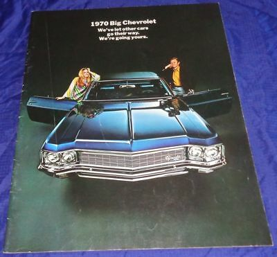 BR1776 1970 Chevrolet Chev Caprice Impala Bel Air Biscayne 454 Brochure 28pgs