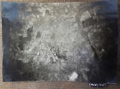 Vintage WW II USAAF 8th Air Force Munster Germany Bombing B/W Photograph