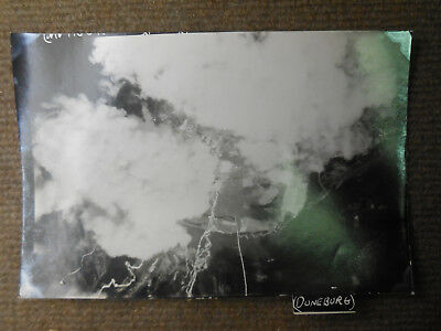 Vintage WW II USAAF 8th Air Force Duneburg Germany Bombing B/W Photograph