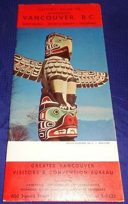 BR1759 Vtg British Columbia 1960's Vancouver Extensive Visitors' Guide Listings